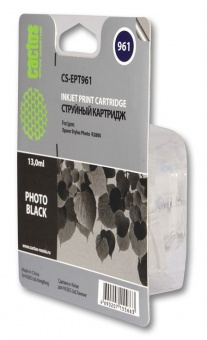 Картридж струйный Cactus CS-EPT961 фото черный для Epson Stylus Photo R2880 (13мл)
