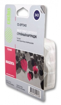 Картридж струйный Cactus CS-EPT343 пурпурный для Epson Stylus Photo 2100 (15.4мл)
