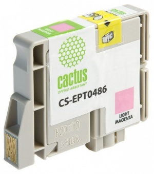 Картридж струйный Cactus CS-EPT0486 светло-пурпурный для Epson Stylus Photo R200/R220/R300/R320/R340
